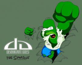 Papel de parede Homer Hulk