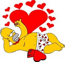Papel de parede Os Simpsons – Homer Simpson love