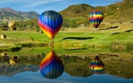 Papel de parede Balões no Campo