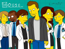 Papel de parede House – Simpsons