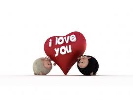 Papel de parede I Love You – Eu Amo Você