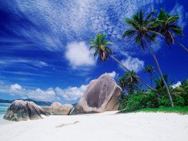 Papel de parede Ilha deserta e sol