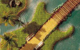 Papel de parede Ilha Guitarra