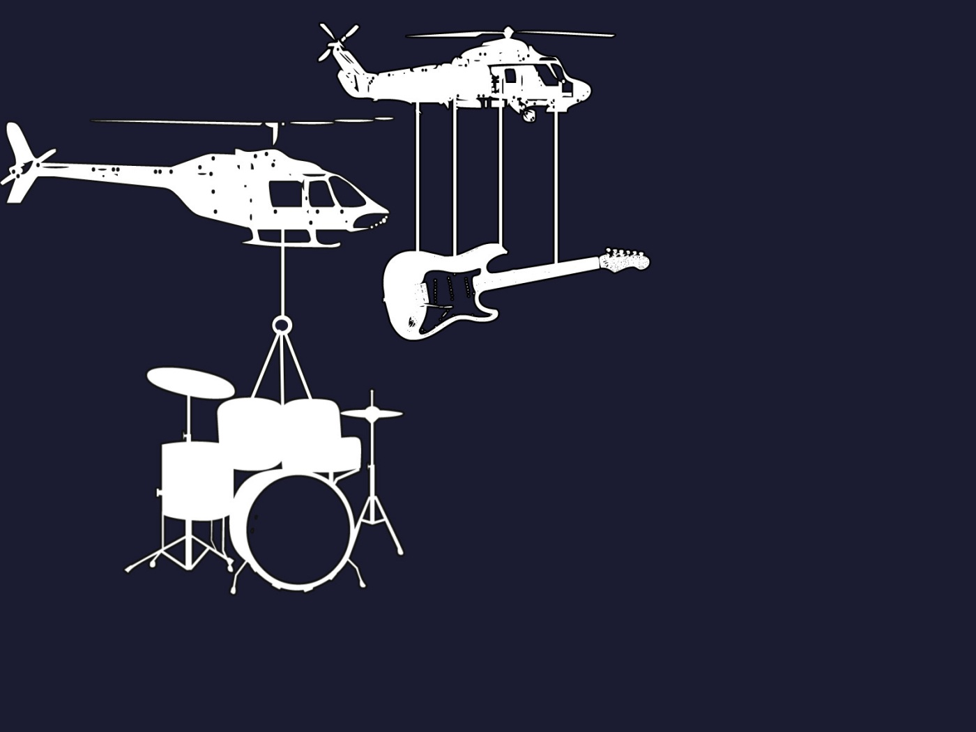 Guitar and drums wallpaper