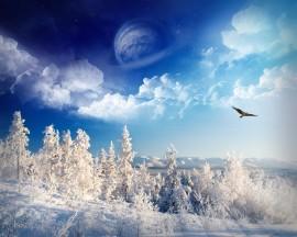 Papel de parede Inverno no Mundo Imaginário