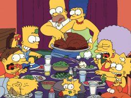 Papel de parede Jantando com os Simpsons