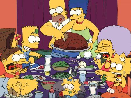 Papel de parede Jantando com os Simpsons para download gratuito. Use no computador pc, mac, macbook, celular, smartphone, iPhone, onde quiser!