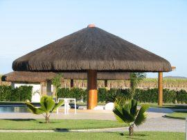 Papel de parede Jardim com Cabana