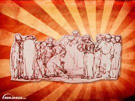 Papel de parede Jesus e seus discípulos