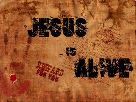 Papel de parede Jesus is alive