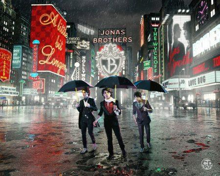 Papel de parede Jonas Brothers – na Chuva para download gratuito. Use no computador pc, mac, macbook, celular, smartphone, iPhone, onde quiser!