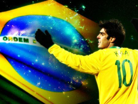 Papel de parede Kaká – Seleção Brasileira para download gratuito. Use no computador pc, mac, macbook, celular, smartphone, iPhone, onde quiser!