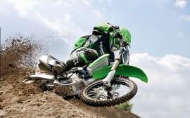 Papel de parede Motocross: Kawasaki Verde