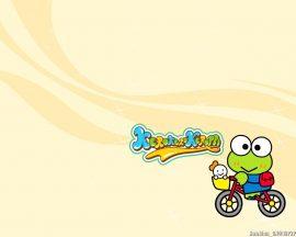 Papel de parede Keroppi – Bicicleta