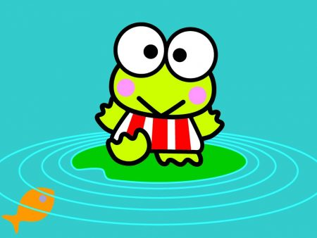 Papel de parede Keroppi – Na Lagoa para download gratuito. Use no computador pc, mac, macbook, celular, smartphone, iPhone, onde quiser!
