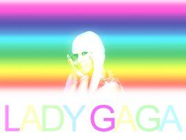 Papel de parede Lady Gaga – Arco-iris