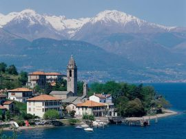 Papel de parede Lago na Itália