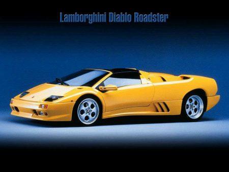 Papel de parede Lamborghini Diablo Roadster #2 para download gratuito. Use no computador pc, mac, macbook, celular, smartphone, iPhone, onde quiser!