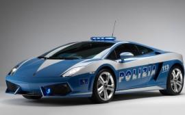 Papel de parede Lamborghini Gallardo LP560, Carro de Polícia