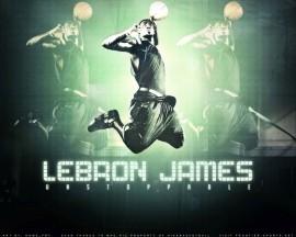 Papel de parede Lebron James Verde