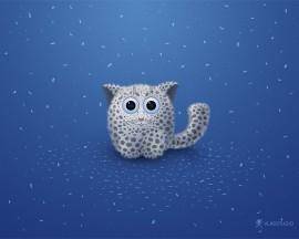Papel de parede Lindo Leopardo da Neve