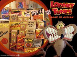 Papel de parede Looney Tunes – Coiote e as Bombas