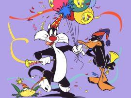 Papel de parede Looney Tunes – Festa