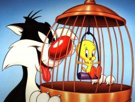 Papel de parede Looney Tunes – Frajola e Piu-piu