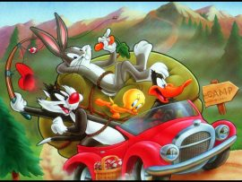 Papel de parede Looney Tunes – Passeio