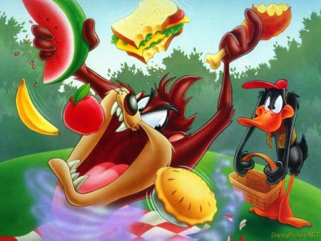 Papel de parede Looney Tunes – Picnic para download gratuito. Use no computador pc, mac, macbook, celular, smartphone, iPhone, onde quiser!