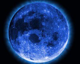 Papel de parede Lua Azul