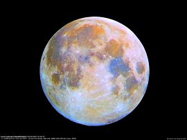 Papel de parede Lua Colorida