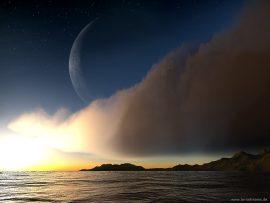 Papel de parede Lua Grande