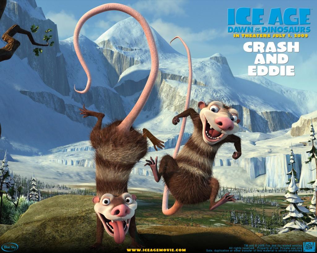 Papel de parede Crash e Eddie – A Era do Gelo para download gratuito. Use no computador pc, mac, macbook, celular, smartphone, iPhone, onde quiser!