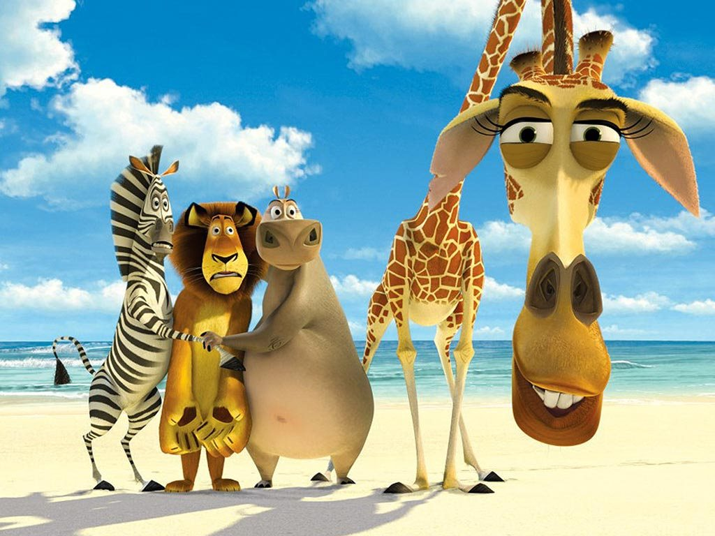 Papel de parede Madagascar: Alex, Marty, Melman e Glória para download gratuito. Use no computador pc, mac, macbook, celular, smartphone, iPhone, onde quiser!