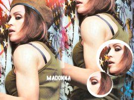 Papel de parede Madonna – Militar