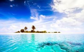 Papel de parede Linda praia nas ilhas Maldivas