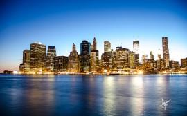 Papel de parede Manhattan Vista do Rio Hudson
