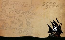 Papel de parede Mapa Pirata