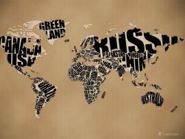 Papel de parede Mapa Nomeado
