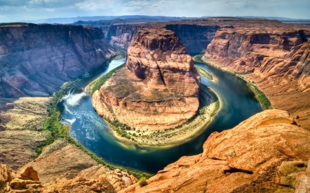 Papel de parede Marca de Ferradura – Grand Canyon, EUA para download gratuito. Use no computador pc, mac, macbook, celular, smartphone, iPhone, onde quiser!