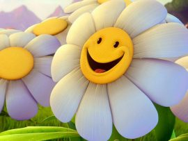 Papel de parede Margarida – Sorrindo