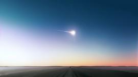 Papel de parede Meteoro Cruzando o Céu