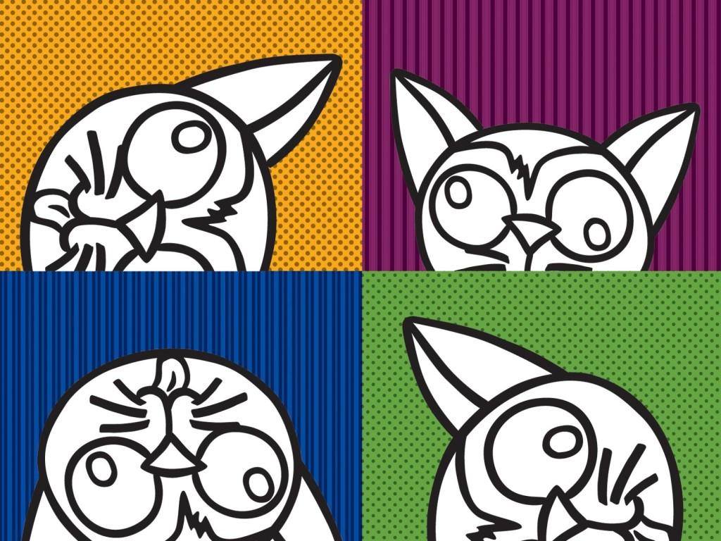 Papel De Parede Gatos Coloridos Wallpaper Para Download No