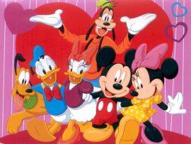 Papel de parede Mickey e amigos