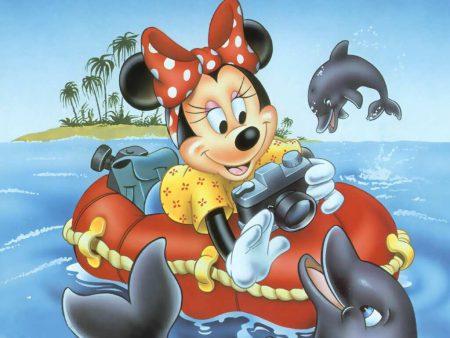 Papel de parede Minnie no Mar para download gratuito. Use no computador pc, mac, macbook, celular, smartphone, iPhone, onde quiser!