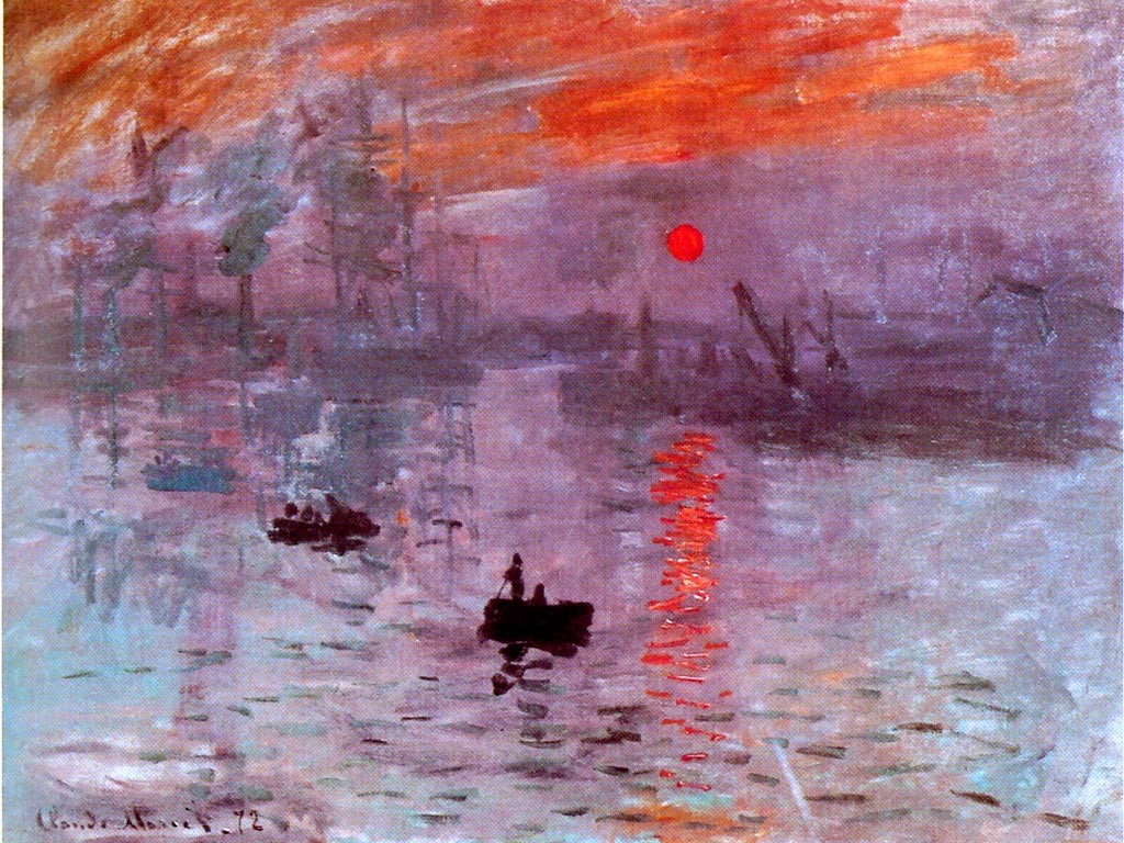 Papel de parede Monet – Nascer do Sol para download gratuito. Use no computador pc, mac, macbook, celular, smartphone, iPhone, onde quiser!