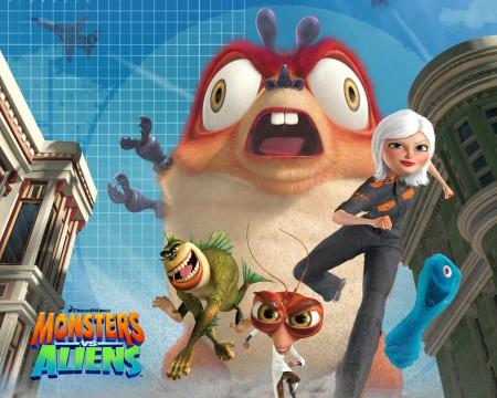 Papel de parede Monstros Vs Alienígenas para download gratuito. Use no computador pc, mac, macbook, celular, smartphone, iPhone, onde quiser!