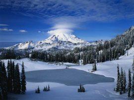 Papel de parede Montanha com neve