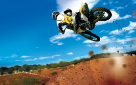 Papel de parede Salto de Motocross